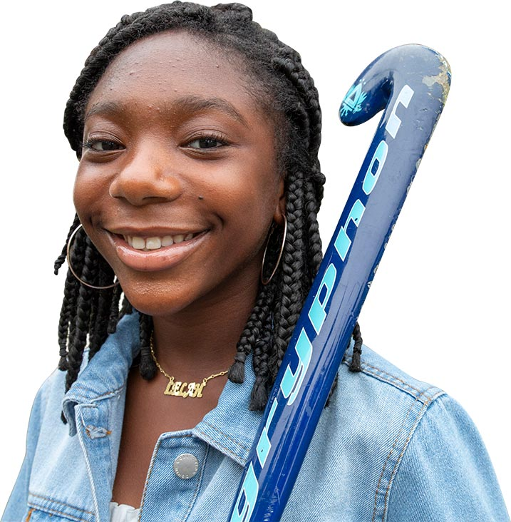Adreanna enjoys field hockey